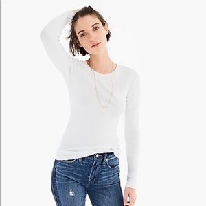 NWT J. Crew Perfect Fit Long-Sleeve Tee